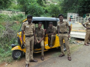 Local policemen ready for action